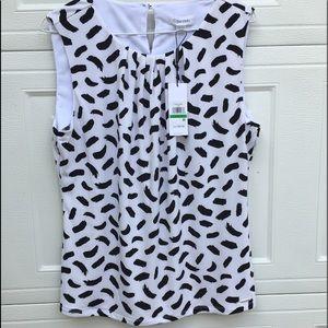 NWT Calvin Klein sleeveless top Size large